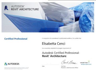 Certificato Autodesk revit architecture
