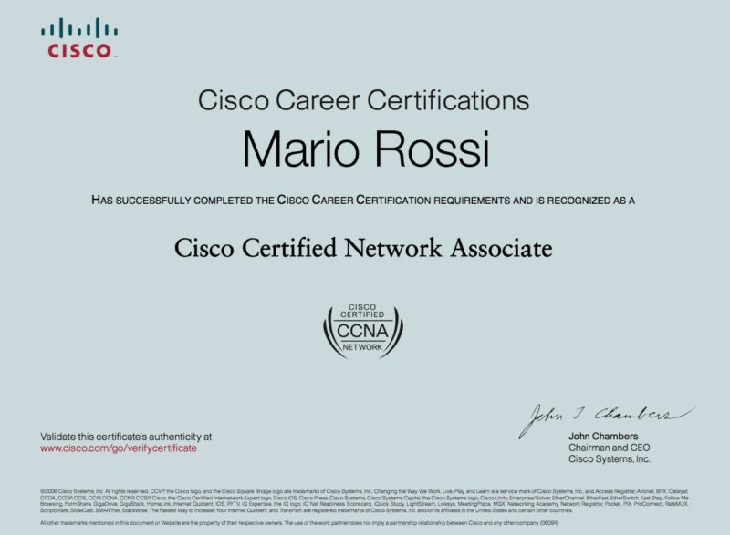 Certificazione CISCO