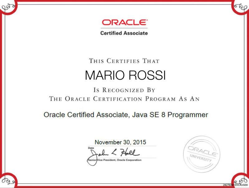 Certificazione Oracle