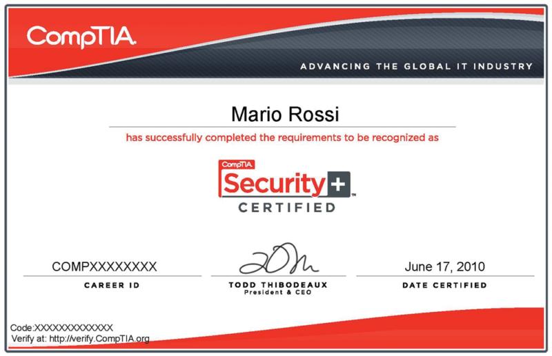 Certificazione CompTIA