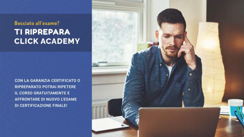 Garanzia certificato o ripreparato di Click Academy