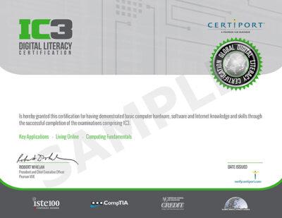 Certificato IC3 Microsoft